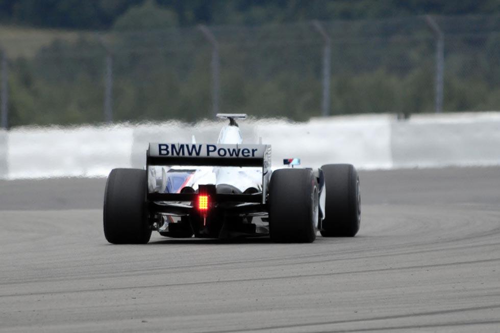 BMW Sauber F1 Experience Day - von hinten - mit Nachbrenner