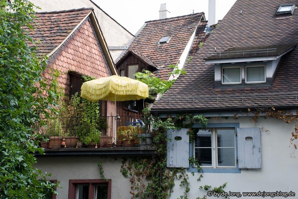 Basel - Dachterrasse, nähe Leonhardssporn