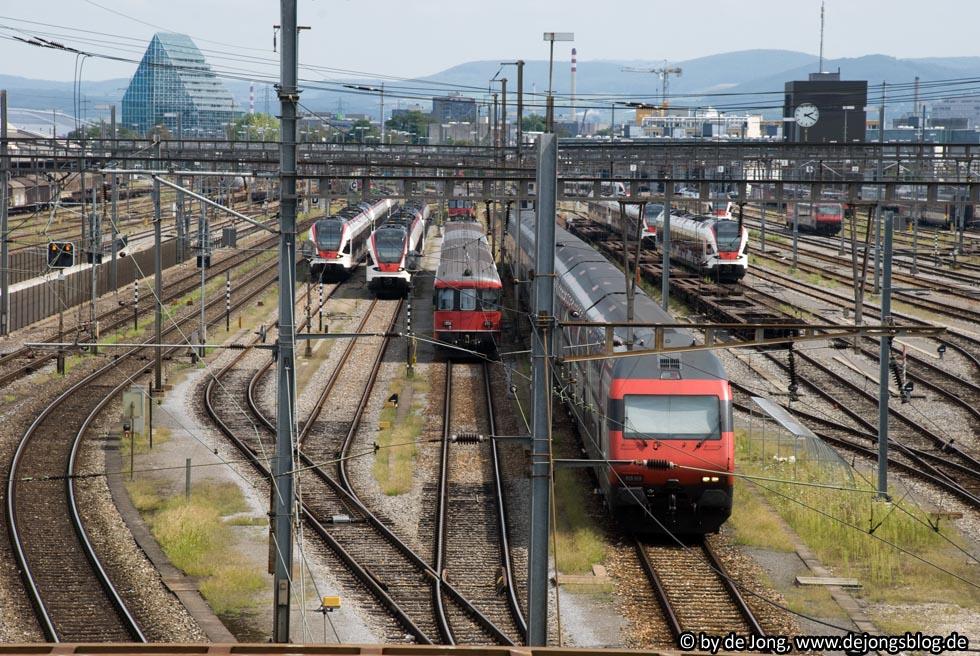 Zentralbahnhof in Basel, Schweiz