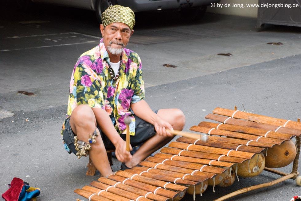 Straßenmusikant in Basel, Schweiz