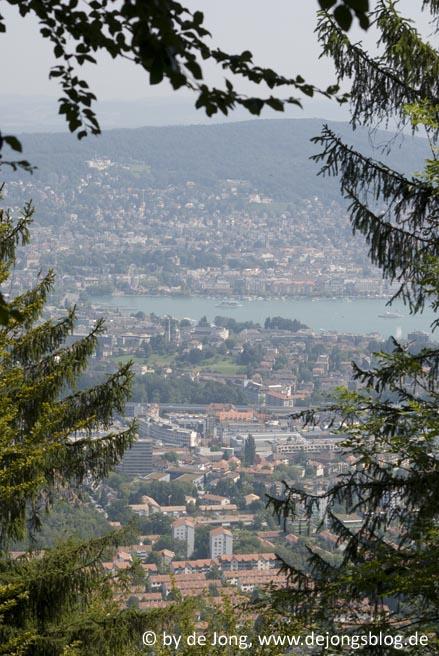 Blick vom Uetliberg nach Zuerich - Schweiz