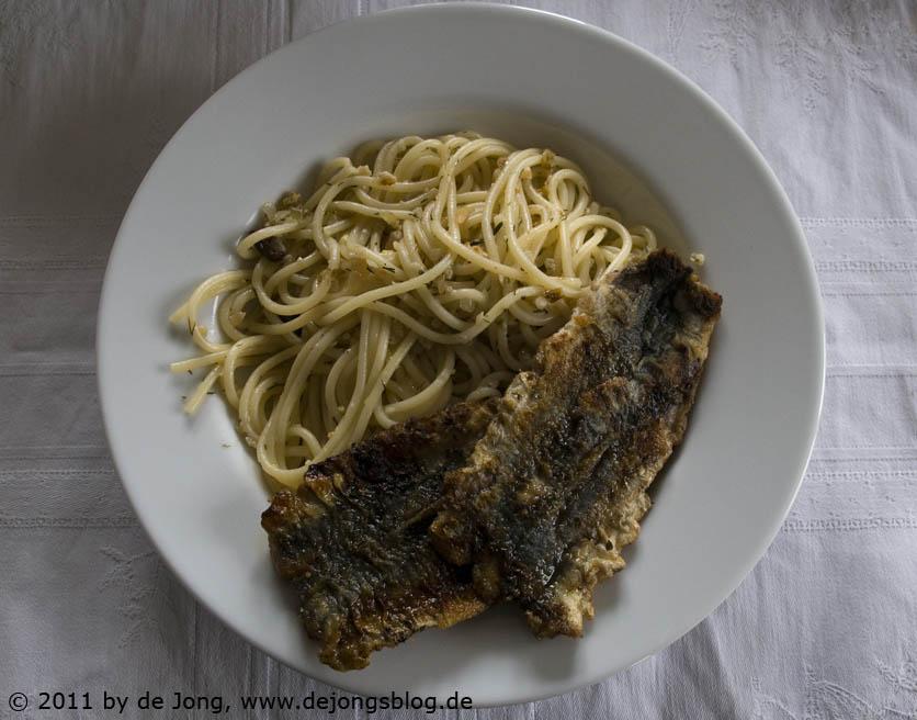 Spagetti Sizilianisch mit Sardinen